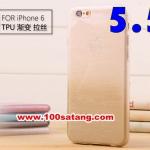 (027-386)เคสมือถือไอโฟน case iphone 6 Plus เคสนิ่มใสทูโทนลายเส้น