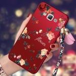 (477-014)เคสมือถือซัมซุง Case Samsung Galaxy J5(2016) เคสนิ่มคลุมเครื่องลายดอกไม้แฟชั่นสวยๆ พร้อมสายคล้องมือลายดอกไม้