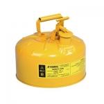 ถังเก็บสารเคมี,ของเหลวไวไฟ ขนาด 2.5 GEL (SAFETY CAN-YELLOW)
