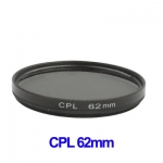 62mm Camera CPL Filter Lens (Black)