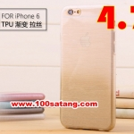 (027-385)เคสมือถือไอโฟน Case iPhone 6 เคสนิ่มใสทูโทนลายเส้น