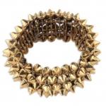 #Korean Style Rivet Punk Rock Bracelet สร้อยข้อมือลายหนามสีทอง สไตล์พังค์ร็อค