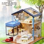 (331-005)แบบบ้านประดิษฐ์โมเดลประกอบ DIY ชุด Seattle