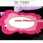 (027-390)เคสมือถือไอโฟน case iphone 5/5s เคสนิ่มกระจก MOSCHINO ตุ๊กตาบาร์บี้ชุดสีชมพู