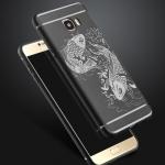 (594-001)เคสมือถือซัมซุง Case Samsung Galaxy C7 เคสนิ่มลายปลาคราฟสไตล์ญี่ปุ่น