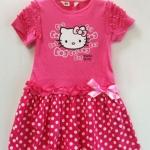 H&M ชุดกระโปรง Hello Kitty สีชมพู ลายจุด แขนแต่งระบาย น่ารักมากค่ะ size 1.5-2, 2-3, 3-4, 4-6