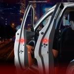 (670-001)LED ไฟกระพริบเตือนขณะเปิดประตูรถกันอุบัติเหตุ 1 ชุด/4ชิ้น
