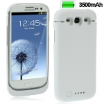 3500mAh Portable Power Bank Samsung Galaxy S 3 III (White)