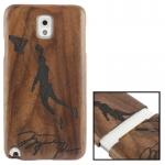 Woodcarving Basketball Player Pattern Mahogany Wood Material Case เคส Samsung Galaxy Note 3 (III) / N9000 ซัมซุง กาแล็คซี่ โน๊ต 3