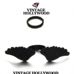 Vintage Hollywood Black Angel Wing Set Ring แหวนชุดปีกนางฟ้าสีดำพร้อมแหวนข้อนิ้ว