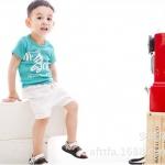 ชุดเด็ก เสื้อลายม้าลายกับกางเกงสีขาว น่ารักสไตล์เกาหลี