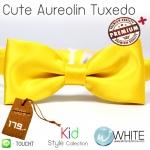 Cute Aureolin Tuxedo - หูกระต่ายเด็ก สีเหลือง (29) เนื้อผ้าผิวมัน เรียบ Premium Quality+ (BT383) by WhiteMKT