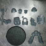Space Marine Terminator with Thunder Hammer&Stormshield Single
