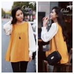 Chiffon long sleeve high premium Yellow