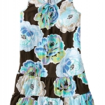 เดรส Old Navy Girl Tiered Floral Tank (Blue Floral)