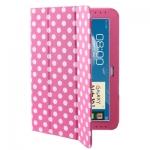 Case เคส Dot Leather Case Samsung Galaxy Note (10.1) (N8000) (N8010) Pink