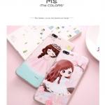 (557-010)เคสมือถือไอโฟน Case iPhone 6/6S เคสนิ่มTPU ลายการ์ตูนเด็กผู้หญิงญี่ปุ่น