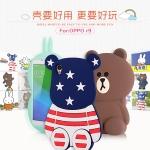 (013-024)เคสมือถือ Case OPPO F1 Plus (R9) เคสนิ่ม 3D ตัวการ์ตูนลายธงชาติ