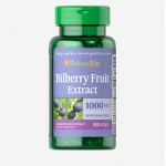 Puritan's Pride Bilberry Extract 1000 mg 90 Softgels