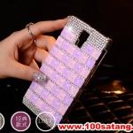 (022-063)เคสมือถือซัมซุงกาแล็คซี่เอส 4 Samsung Case เคสพลาสติกใส Rhinestone สวยๆไล่โทนสี