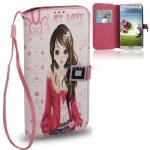 Case เคส Cartoon Girl Samsung GALAXY S4 IV (i9500)