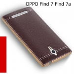 (666-001)เคสมือถือ OPPO Find 7/Find 7a เคสนิ่มขอบชุบแววพื้นหลังลายหนังคลาสสิค