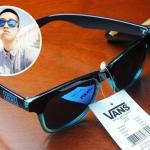 แว่นกันแดด Vans Spicoli 4 Shades Translucent Maliblue/Evil Blue <น้ำเงิน>