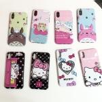 (674-020)เคสมือถือไอโฟน Case iPhone X เคสนิ่มพื้นหลังพลาสติกลายน่ารักๆ
