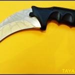 มีดซ้อมควง คารัมบิตโกลเด้นสไปเดอร์ Golden Spyder Karambit Trainer Knife TKKB-GS8TR