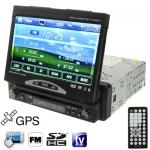 1DIN / 7 inch/Touch Screen/TV/ FM Radio/Bluetooth/GPS เครื่องเสียงรถยนต์