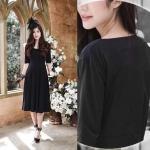 Daisy Dress สีดำ (แบบใหม่ หลังไม่เว้าค่ะ)