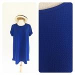 Oversized basic dress สีน้ำเงินสด