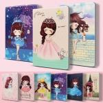 (557-022)เคสไอแพด iPad mini 4 เคสฝาพับตั้งโต๊ะลายเด็กผู้หญิงน่ารัก