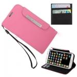 Case เคส Pure Color แบบพลิกแนวนอน Samsung GALAXY S4 IV (i9500)(Pink)