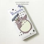 กระเป๋าสตางค์ใบยาว Totorot น่ารักมาก สีขาว-ครีม ขนาด 2 พับ