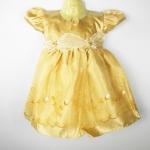 ชุดราตรีเด็กสีทองสำหรับเด็กเล็กวัยหัดเดิน