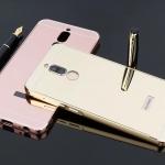 (674-011)เคสมือถือ Case Huawei Nova 2i/Mate10Lite เคสกรอบโลหะฝาหลังสไลด์แววคล้ายกระจก