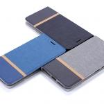 (651-008)เคสมือถือไอโฟน Case Samsung S8+ เคสนิ่มฝาพับวัสดุหนัง TPU ลายผ้ายีนส์หุ้มเหล็กด้านใน ฝาพับสามารถตั้งโทรศัพท์ได้