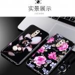 (025-528)เคสมือถือ Case Huawei GR5 2017 เคสกรอบเพชรลายดอกไม้สไตส์ผู้หญิง วัสดุ silica gel