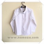 เสื้อเชิ้ต แขนยาว สีขาว ขนาด S-XL