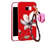 (616-021)เคสมือถือซัมซุง Case Note5 เคสนิ่มคลุมเครื่องลายดอกไม้แฟชั่นสวยๆ พร้อมสายคล้องมือลายดอกไม้