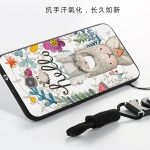 (025-667)เคสมือถือ Case Huawei Y7prime เคสนิ่มซิลิโคนลายน่ารักพร้อมแหวนมือถือและสายคล้องคอถอดแยกได้