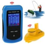 อุปกรณ์ค้นหาปลา แบบจอสี Sonar Sensor ระยะการค้นหา 40 เมตร