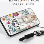 (025-880)เคสมือถือ Case Huawei P9Lite/G9Lite เคสนิ่มซิลิโคนลายน่ารักพร้อมแหวนมือถือและสายคล้องคอถอดแยกได้