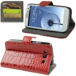 Case เคส Crocodile Samsung Galaxy S 3 III (Red)