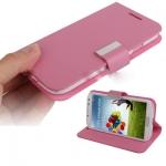 Case เคส Pure แบบซองหนัง สีชมพู Samsung GALAXY S4 IV (i9500)