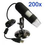 กล้อง microscope 1.3 ล้านพิกเซล ซูม 200X ไฟ LED 8 สีขาว