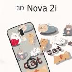 (674-001)เคสมือถือ Case Huawei Nova 2i/Mate10Lite เคสขอบนิ่มพื้นหลังลายการ์ตูน+แหวน+เชือก
