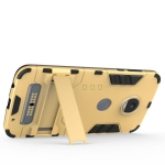 (002-211)เคสมือถือ Motorola MOTO Z2Play เคสขอบนิ่มพื้นหลัง PC+ขาตั้ง สไตล์ IronMan