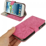 Case เคส Denim Samsung Galaxy Grand Duos (i9082)(Magenta)